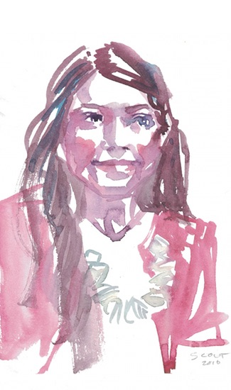 Painting of Kimberly by Scout